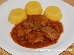 Absolut Delicios - Retete culinare: OSTROPEL DE PUI Romanian Food, Romanian Recipes, Entrees, Food And Drink, Cooking Recipes, Beef, Chicken, Ethnic Recipes, Anna