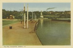 This postcard featuring the Kincardine Lighthouse and north pier was originally published c. 1930.