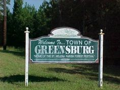 "Greensburg, LA - ""Home of the Forest Festival"" - Welcome Signs on Waymarking.com"