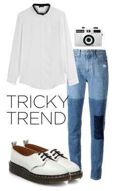 """""""Tricky Trend: Patchwork Denim"""" by ohlizzy ❤ liked on Polyvore featuring Paige Denim, The Kooples, Comme des Garçons, Holga, TrickyTrend, contest, contestentry and patchworkdenim"""