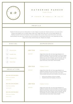 Templates For Resumes Word Simple Modern Resume & Cover Letter Ms Word  Resumes  1  ↑ Crafty .