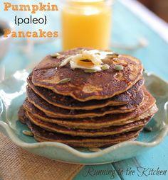 Pumpkin paleo pancakes (that actually taste good).