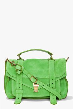 I really want a green bag!