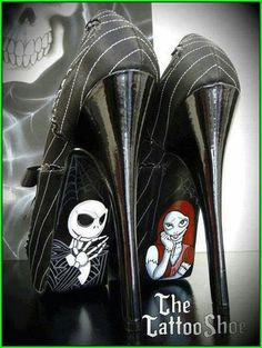 Jack Skellington and Sally shoes! MUST HAVE! I don't care if I'd never be able to walk in them! LOL