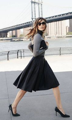 A classic black skirt is a must in any smart womans wardrobe. This ...