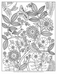 Lifes A Garden Is Printable Adult Coloring Page Designed By The Talented Artist