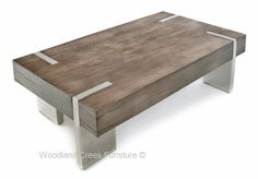 Soft Modern Gray Cocktail Table