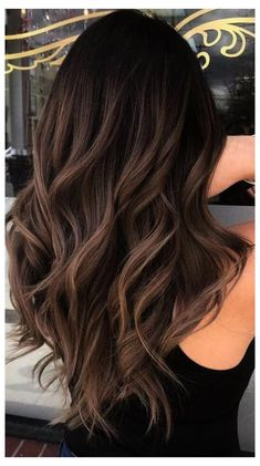Hair Color Ideas For Brunettes Balayage, Brunette Highlights, Brunette Color, Dark Brown Hair With Highlights And Lowlights, Dark Brunette Balayage Hair, Summer Brunette, Balayage Highlights, Ombre Hair Dark Skin, Dark Hair Balyage
