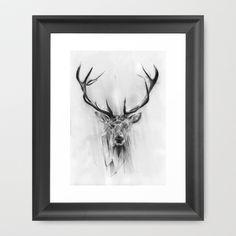 Red Deer Framed Art Print by Alexis Marcou - $33.00