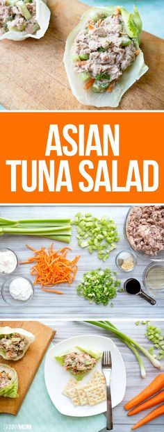 Asian Tuna Salad - Switch up your boring tuna salad with this flavorful Asian-inspired recipe. #recipes #lunch #healthy