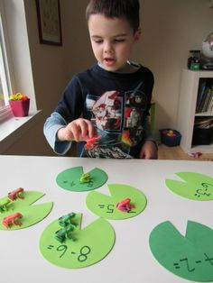 Lily Pad Math - Subtraction Activity