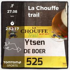 La Chouffe trail in Houffalize (B). 28 km in 2:57:24.