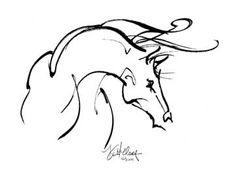 Poetry | Spirit of Horse Art by Kim McElroy Brush Drawing, Line Drawing, Painting & Drawing, Horse Drawings, Art Drawings, Horse Sketch, Horse Logo, White Horses, Equine Art