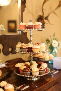 A Rustic-Glam Outdoor Wedding in Moultrie, GA Wedding Cupcakes, Mini Cupcakes, Buffet Set Up, Cupcake Display, Wedding Catering, All You Need Is Love, Special Day, Bakery, Rustic