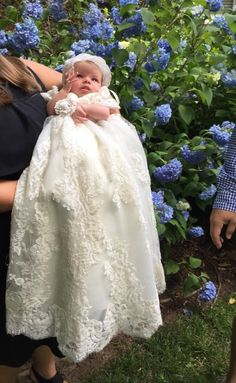 Baby Christening Gowns, Baptism Gown, Dress Out, New Dress, Mermaid Skirt, Mermaid Style, Mommy And Me Dresses, Romper With Skirt, Flower Girl Dresses