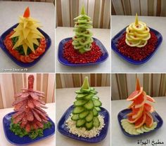 food decoration New Year Creative Christmas Trees, Christmas Holidays, Xmas Trees, Christmas Ideas, Christmas Crafts, Food Crafts, Diy Food, Fruits Decoration, Food Decorations