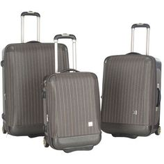 3Pc Oneonta Luggage Set in Gray * You can find more details by visiting the image link.