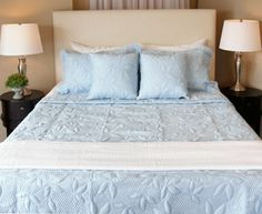Cotton Sateen Quilts Beddington's luxuriously soft, cotton quilts will add a subtle touch of elegance to your bedroom. Available in an array of soothing colors and your choice of sizes. These quilts are sure to compliment any décor. Soothing Colors, Cotton Quilts, Bed Sheets, Bedding Sets, Are You Happy, Duvet Covers, Touch, Elegant, Bedroom