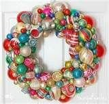 Love a vintage ornament wreath