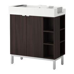 LILLÅNGEN Kast o wastafel 2deur/2afsluitelem IKEA