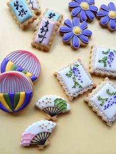 和柄クッキー。|石川・金沢・小松 アイシングクッキーサロン Little Sugar