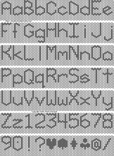 Peyote Stitch Graph Paper | It's vertically oriented unlike my bead font . For straps and ...