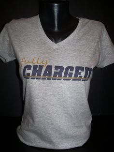 Fully Charged Chargers Football Shirt by flashyexpressions, $13.99