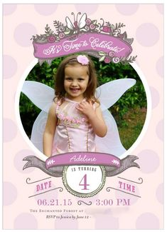 Fairy party invitati