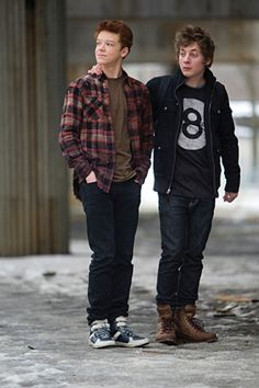 """Lip Gallagher from Shameless A layered flannel and cool t-shirt could work for a more edgy/urban look. throw on a leather coat and we have a more """"Vampire Diaries"""" appeal"""