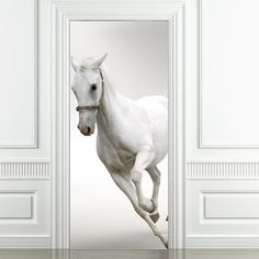 Horse Door Sticker.