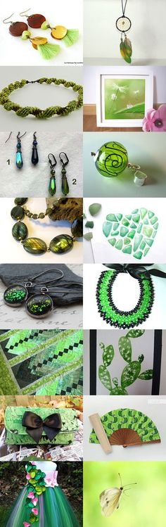 Pantone Spring 2016 Green Flash by Guilaine Grémy on Etsy--Pinned+with+TreasuryPin.com