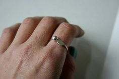 Silver Cherry Ring
