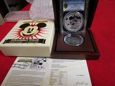 2014 Niue Steamboat Willie Mickey Mouse Disney 1 oz Silver Coin PCGS PF 69 NGC