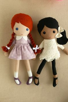 Reserved for Ashlee-Marie Fabric Dolls Rag Dolls by rovingovine