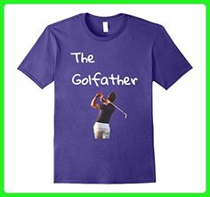Mens The best golf father t shirt with a dad swinging a golf club XL Purple - Relatives and family shirts (*Amazon Partner-Link)