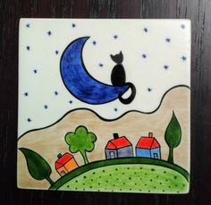 Art Drawings For Kids, Drawing For Kids, Painting For Kids, Tree Coloring Page, Coloring Pages, Scenery Drawing Pencil, Traditional Tile, Mini Canvas Art, Diy Pallet Furniture