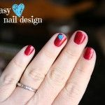 Super easy heart nail design! (By: That's What We Said)