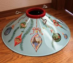 Vintage Coloramic Tree Stand Tin Litho Ornament by That70sShoppe, $125.00