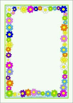 Flowers Page Borders Page Boarders, Boarders And Frames, Boarder Designs, Page Borders Design, Printable Border, Printable Labels, Printables, Border Templates, School Frame