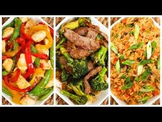 3 simple stir fry recipes (orange chicken, beef & broccoli, fried rice) -  The Domestic Geek