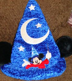 WALT DISNEY WORLD Mickey Mouse apprentice magic hat with ears fantasia Newother