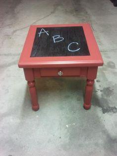 Kids chalkboard table