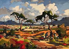Landscapes | Carla Bosch Abstract Landscape, Landscape Paintings, South African Artists, Pictures To Paint, Artist Painting, Contemporary Paintings, Watercolor Art, Modern Art, Art Photography