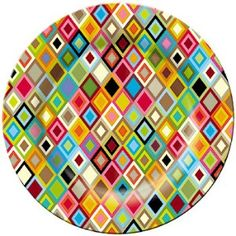 Colourful dinner plate