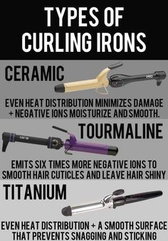 Choose the right type of curling iron for your needs.