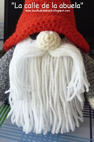 "La calle de la abuela: La familia Tomtez: ""Papá Tomtez"". Patrón Cute Crochet, Crochet Toys, Knit Crochet, Christmas Crochet Patterns, Diy Christmas Ornaments, Knitting Projects, Crafts, Fairies, Crocheting"