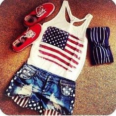 4th of July outfit.
