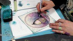 Magic Tutorial, Lavinia Stamps Cards, Fairy Silhouette, Brusho, Acorn, Faeries, Creative Art, Ephemera, Card Making