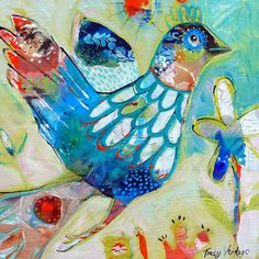 Heartful Musings: paintings - (free as a bird) Online Art Classes, Learn To Paint, Whimsical Art, Fabric Painting, Bird Art, Collage Art, Art Lessons, Watercolor Art, Abstract Art