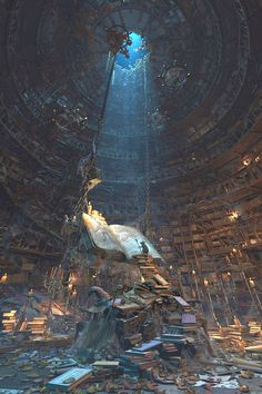 Master of the books by Waldemar Bartkowiak........Click on image to enlarge....